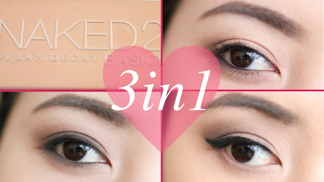 Bien-aimé 3 Eye Makeup Tutorial - Urban Decay NAKED2 Basics - YouTube TP44