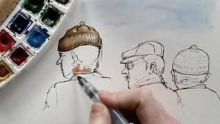 Membuat karakter komik dengan cat air