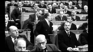Gabin /Le président - Jean Gabin s'exprime sur la moralisation de la vie politique