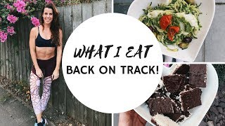 What i eat in a day to get back on track! Im back from Honeymoon an...