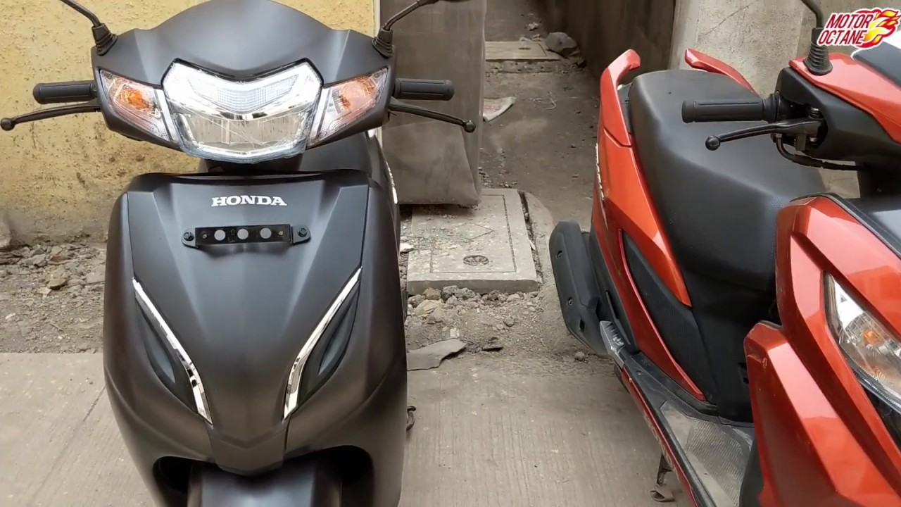 Honda Grazia vs Honda Activa 5G Comparison in Hindi ...