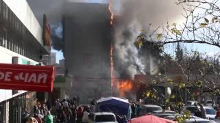 Пожар в Сочи 22.12.2015