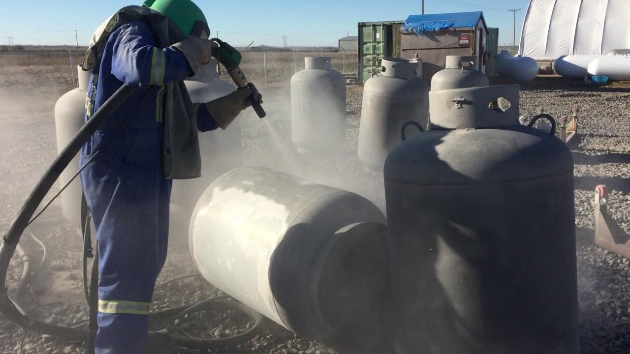 Sandblasting (Refurbishing and Recertification of ASME and DOT Propane  Tanks)