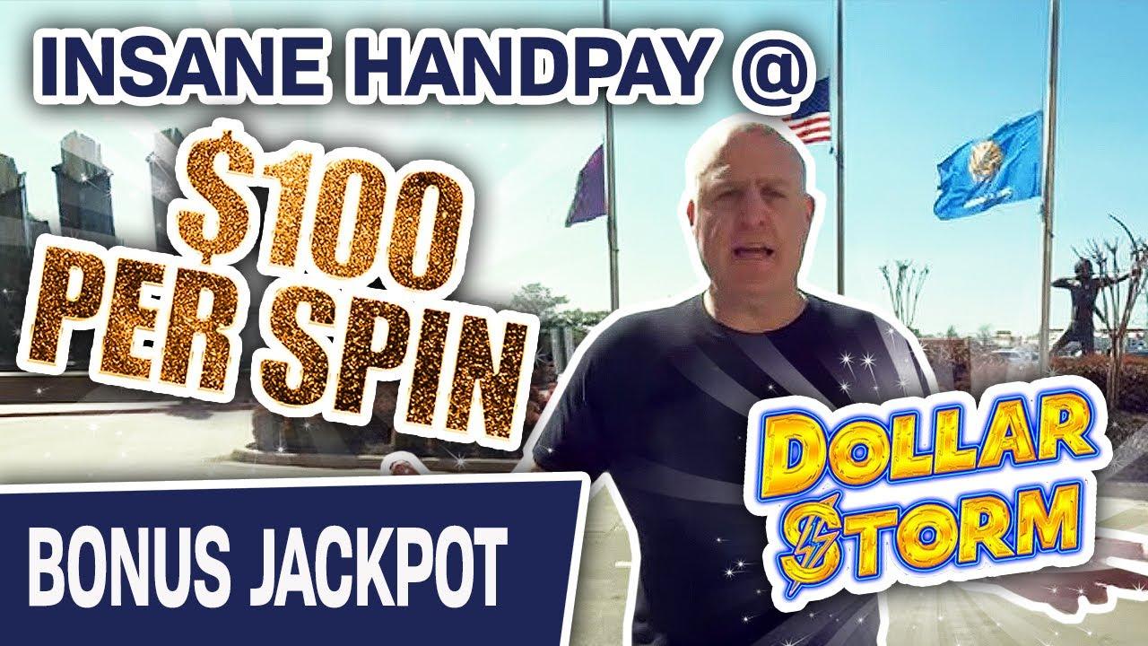 🤪 Insane Handpay Jackpot @ $100 PER SPIN 🌨 Watch Me CRUSH Dollar Storm at Choctaw Casino!