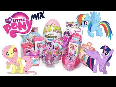 СЮРПРИЗЫ MLP! Май литл пони,Unboxing My Little Pony, лошадки Filly от Kinder Surprise Collection