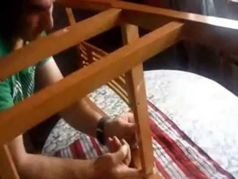Como arreglar una silla sin herramientas en cinco minutos - Como tapizar una descalzadora ...