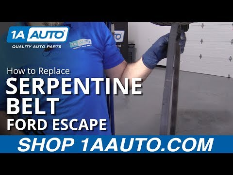 How to Replace Serpentine Belt 08-12 Ford Escape