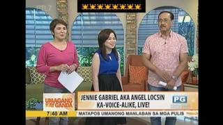 Jennie Gabriel imitates Angel Locsin's voice