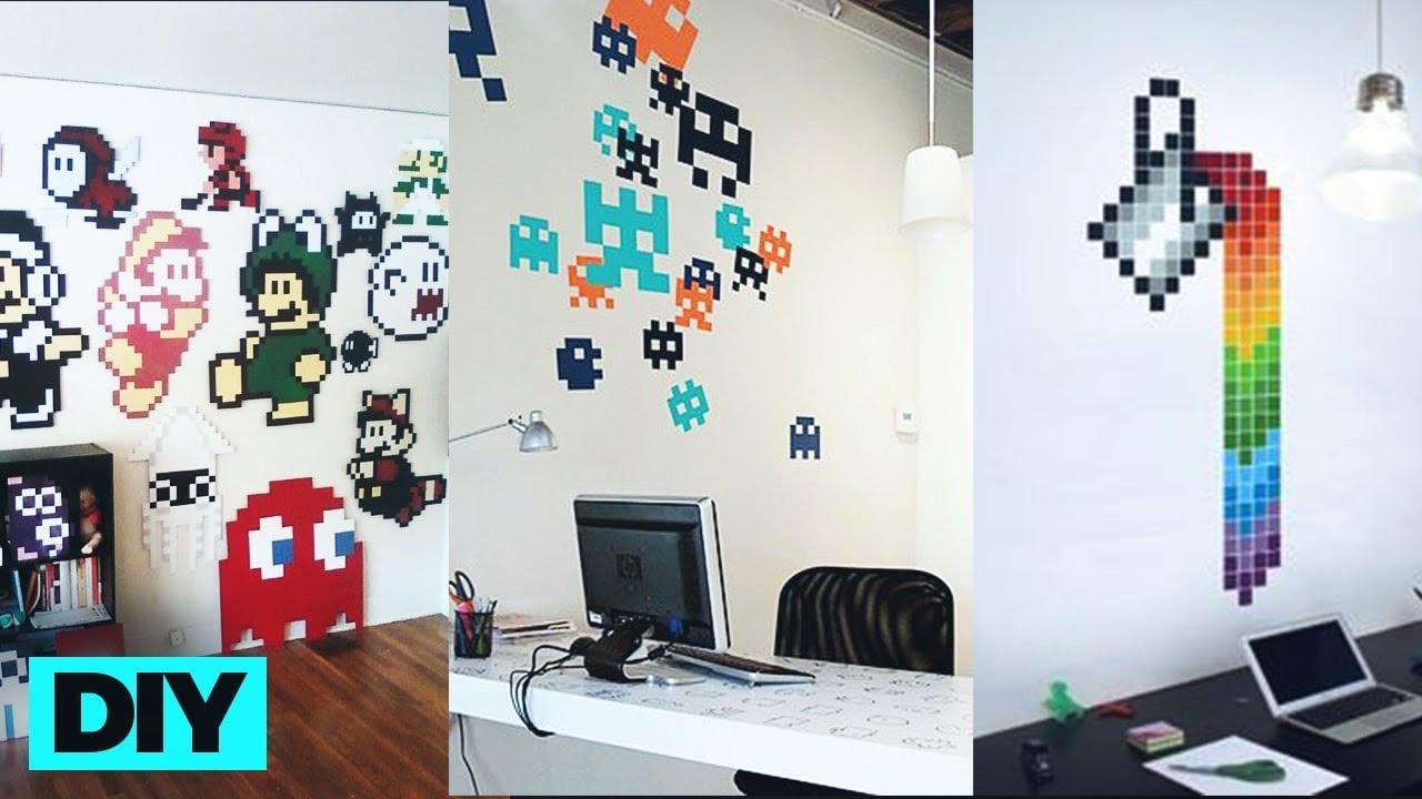 Cara Membuat Hiasan Dinding Dari Kardus Pixel Wall Art