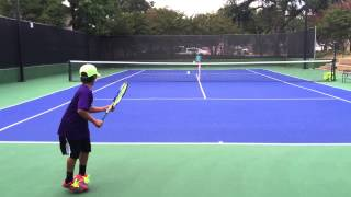9 year old tennis player Jai Dutta Oct 2015