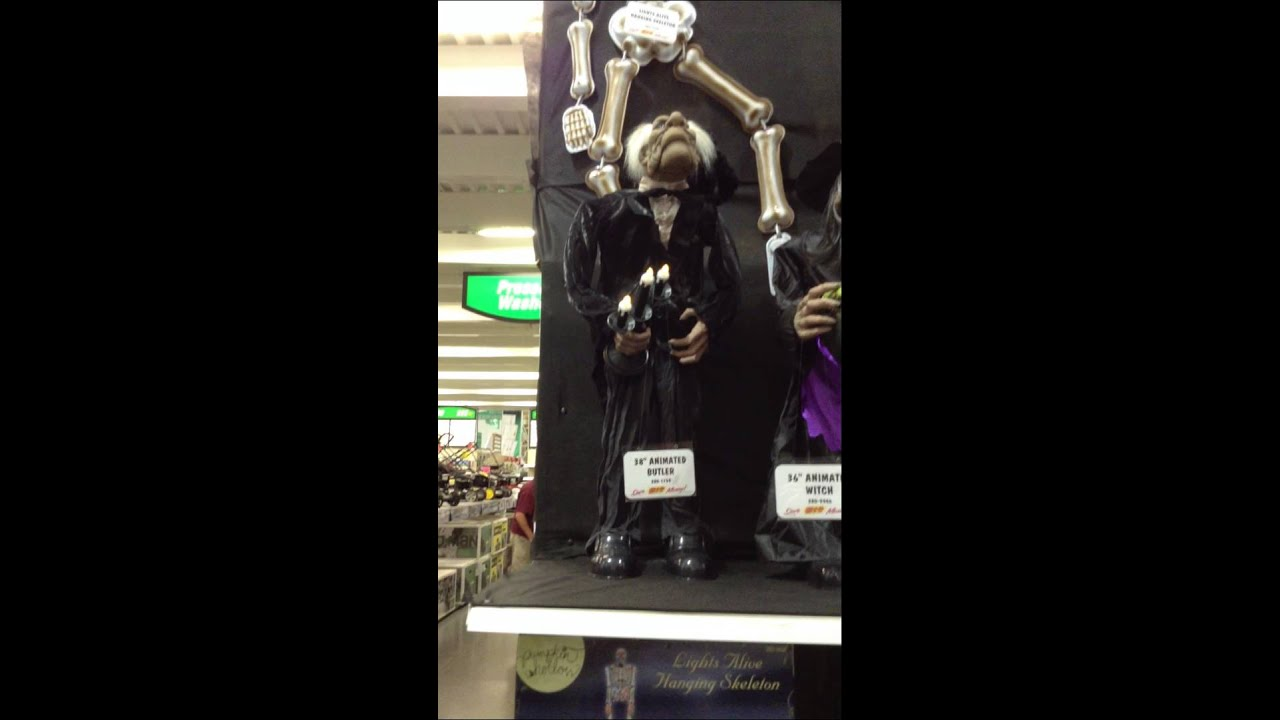 Menards Halloween 2013 Mid Size Animated Butler with Raven ...