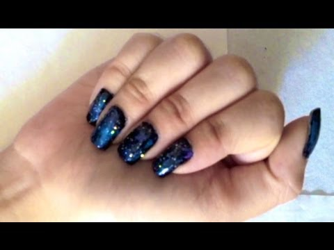 how i do easy galaxy celestial space nail art for