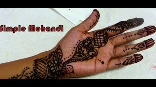 simple and beautiiful mehandi design Thumbnail