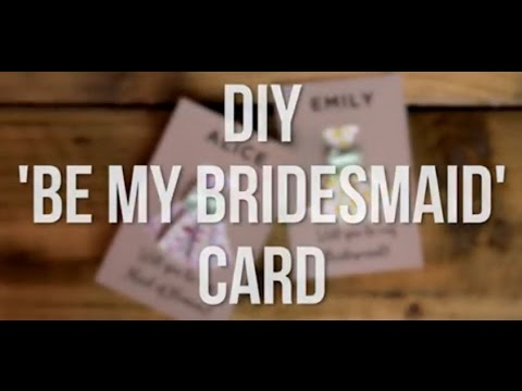 Will You Be My Bridesmaid? DIY Printable Origami Cards - YouTube
