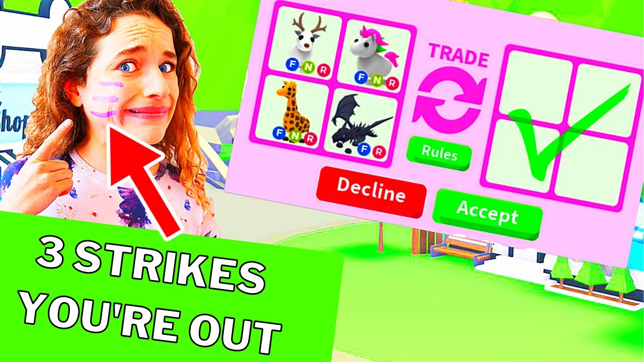 FACE STRIKE TRADING IN ADOPT ME Challenge Gaming w/ The Norris Nuts