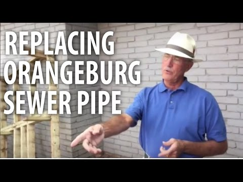 Replacing Orangeburg Sewer Pipe - The Dirt Doctor
