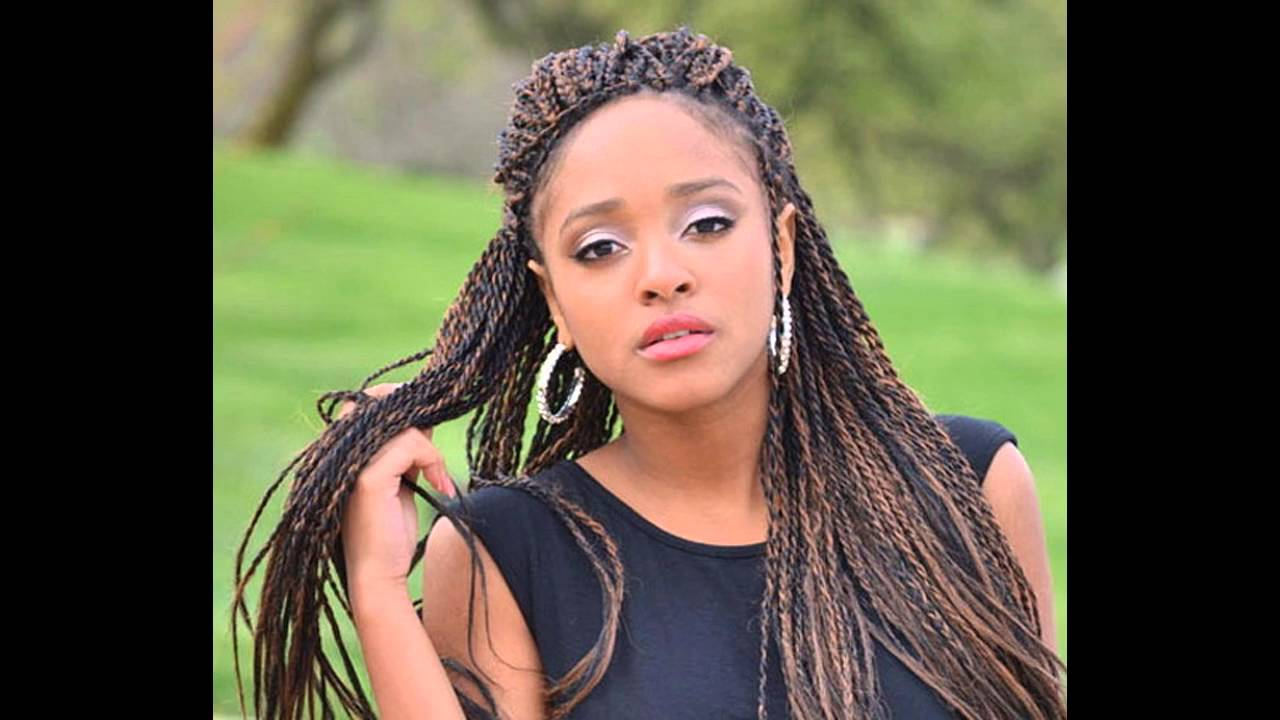 Braids hairstyle for black women - YouTube