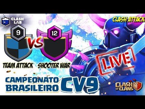 LIVE CAMPEONATO DE CV9 CLASH LAB :: CLASH OF CLANS