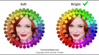 Color Theory: Bright vs Soft - Red Hair, Auburn, Warm Autumn, Warm Spring