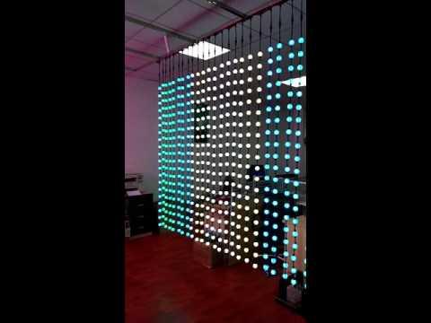 3D Digital LED Curtain light dmx ball light
