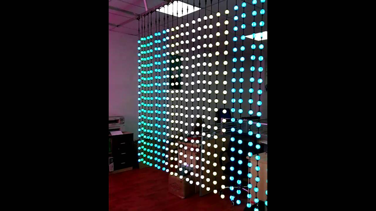 3D Digital LED Curtain Light Dmx Ball