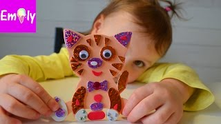 Аппликация для детей котик. Красочная аппликация на магнитах
