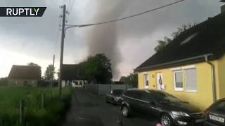 RAW: Strong tornado ravages through Western Germany, leaving at least two injured