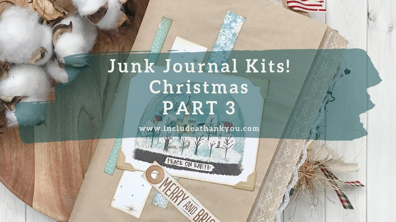 Download Create with Me! | Part 3 | Christmas Junk Journal Kit Series | Process Video | MORE Ephemera Pockets