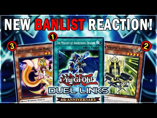 NEW BANLIST REACTION! THANK YOU KONAMI! Darklord, Blue-Eyes, Lunalight DEAD? | Yu-Gi-Oh! Duel Links