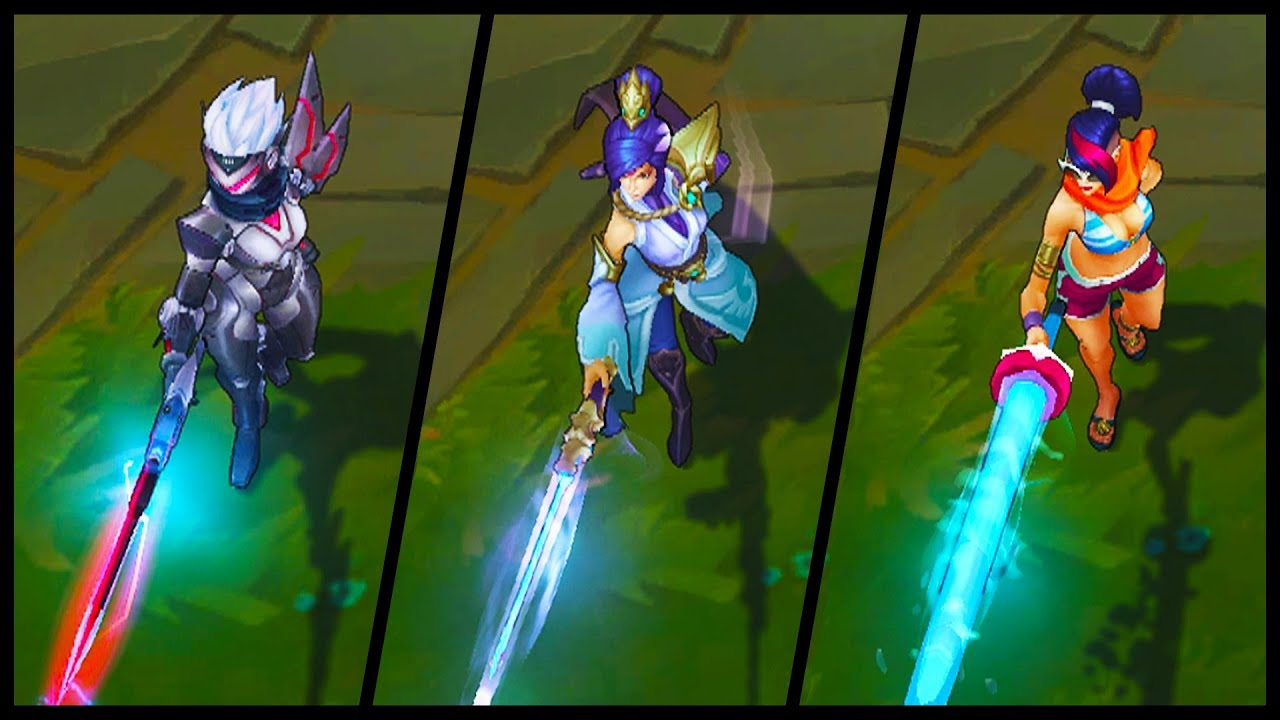All Fiora Skins Spotlight Soaring Sword Project Pool Party