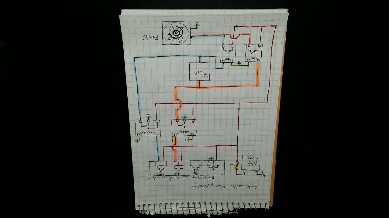 Peltier Ac  Heater Schematic With 5 Pin Relay
