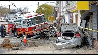 Philadelphia Fire Dept Ladder 13 Crash