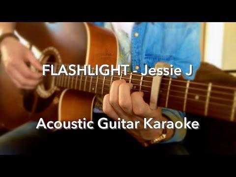 Jessie J - Flashlight Guitar Instrumental/Lyrics (Karaoke)