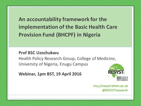 Webinar 2: Promoting accountability in the implementation of Nigeria's National Health Act