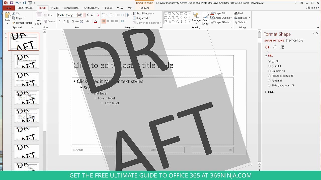 How to Add a Watermark to PowerPoint Presentations - YouTube
