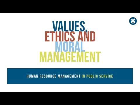 Values, Ethics And Moral Management