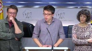 Rueda de Prensa en el Congreso 19.01.2016