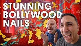 STUNNING BOLLYWOOD NAILS (GEL NAILS) - VLOG 129