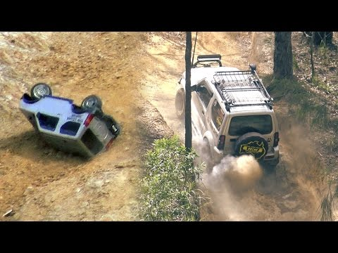 Crazy Suzuki Jimny and Jeep Wrangler JK offroad 4x4 - bonus rc rollover action