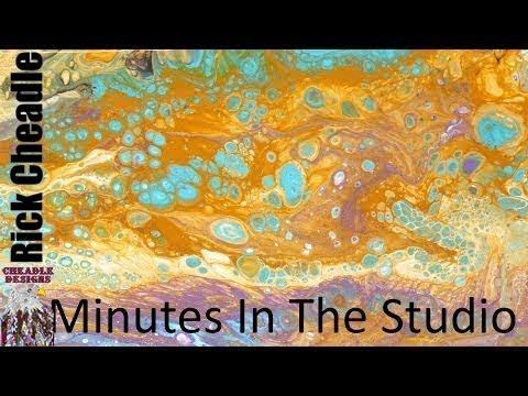 41.- fluid tutorial. canvas art -dirty pour- artist's loft- paint mixing flow art
