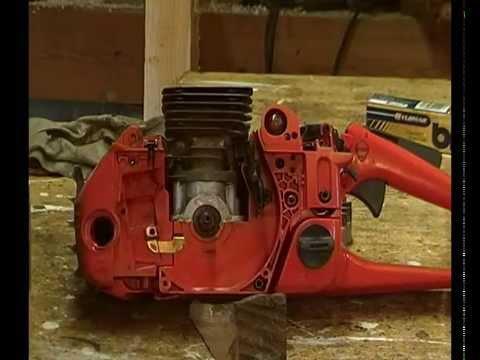 Husqvarna 350 rebuild part 4  Flywheel, ignition unit gap setting  The on /  off switch