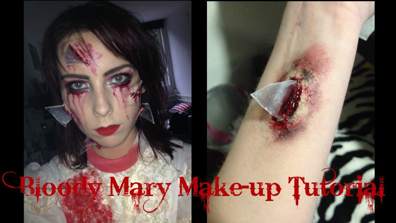 Bloody Mary Halloween Make Up Tutorial - YouTube