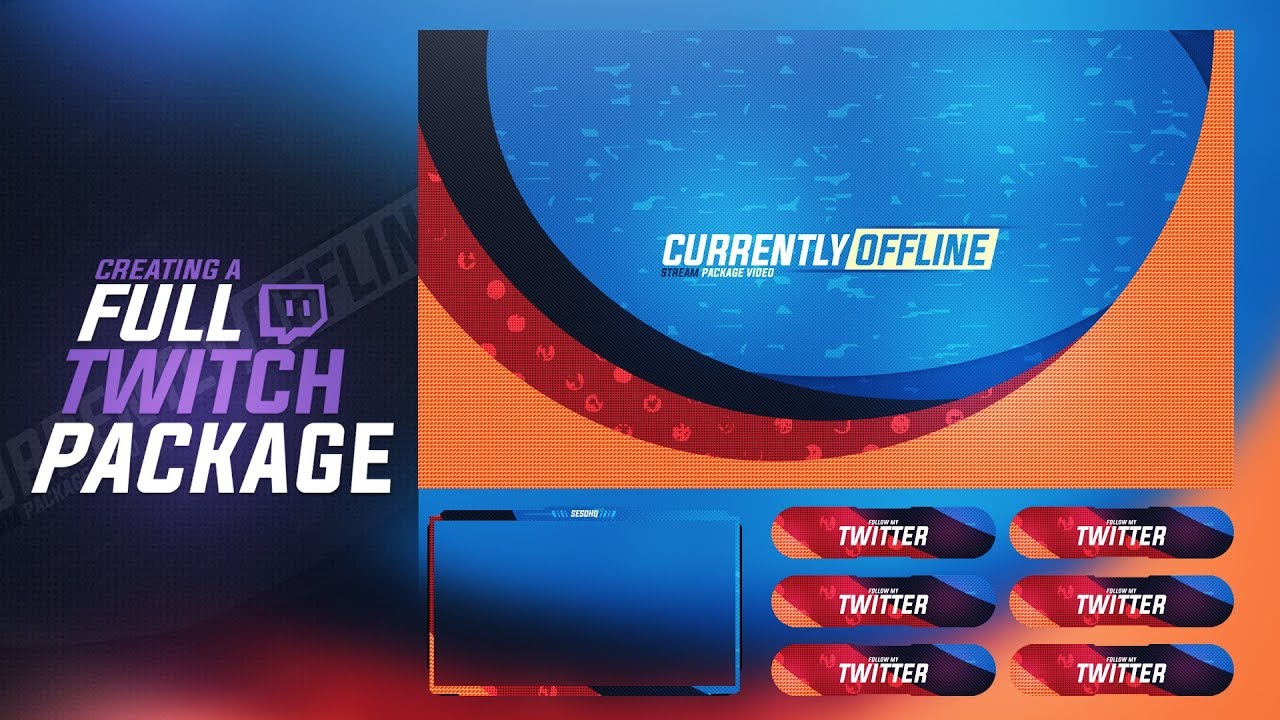 Photoshop Tutorial: Creating a Full Twitch Stream Package