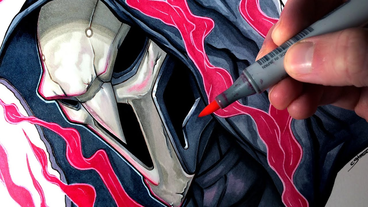 Lets Draw Reaper From Overwatch Fan Art Friday Youtube