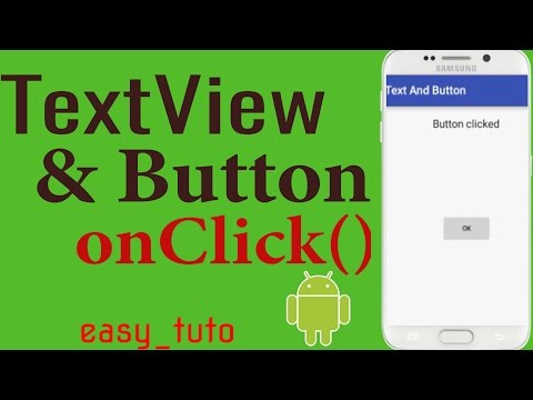 TextView And Button OnCLick | Android Studio Tutorial (Beginners) HD | All About Android