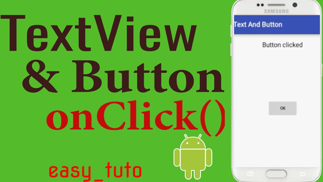 TextView and Button onCLick   Android Studio Tutorial (Beginners) HD   All  About Android