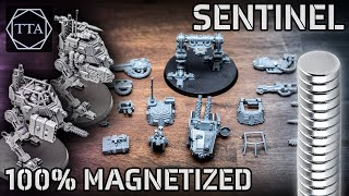 How to Magnetize tнe Astra Militarum Sentinel (Scout and Armoured)