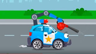Полицейская машинка ловит Гоночную машинку. Истории Машинок. Мультфильмы для детей