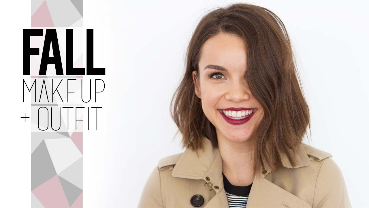 Warm Eyes + Bold Lips for Fall // Get Ready With Me! - YouTube