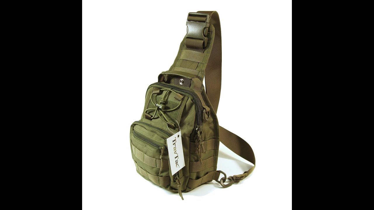 Tour a Travtac Tactical Sling Bag - YouTube